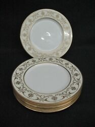 8 Lenox Gold Casino 10.5 Service Plates Chargers Unused Marshall Field 1930s