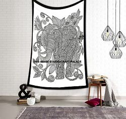 Indian Wall Hanging Mandala Cotton Bedspread Throw Elephant Hippie Tapestries