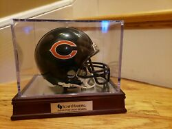 Chicago Bears Mini Nfl Football Helmet By Riddel With Display Case