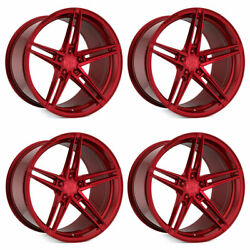 20 Rohana Rfx15 Red 20x9 20x10 Forged Concave Wheels Rims Fits Ford Mustang Gt