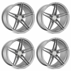 20 Rohana Rfx15 Silver 20x9 20x11 Forged Concave Wheels Rims Fits Ford Mustang