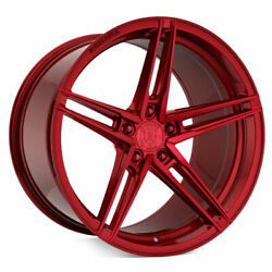20 Rohana Rfx15 Red 20x9 20x11 Forged Concave Wheels Rims Fits Nissan 350z
