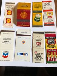 Vintage Matchbook Covers Gas And Oil Lot 8 Shell/union 76/chevron/pep Boys/ 66