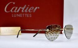 """NEW CARTIER Panthere Rimless Sunglasses CUSTOMIZE LENSES """"exclusives"""" Lunette"""