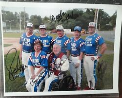 Eddie Feigner The King And His Court Autographed Photo 2004 8x10