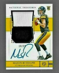 2018 National Treasures Mason Rudolph Auto 2 Color Jersey Patch Rc Ser. 18/99
