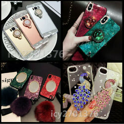 New Handmade Bling Crystals Diamonds Stand Mirror Phone Cases For Iphone Samsung