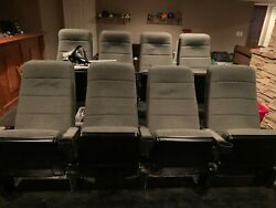 Theater Seats With Cup Holders On Elevated Platform Included. Barely Used.
