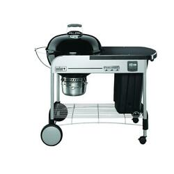Weber 22 In. Performer Premium Charcoal Grill In Black With Built-in And Timer
