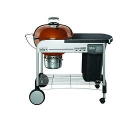 Weber 22 In. Performer Deluxe Charcoal Grill In Copper With Built-in And Timer