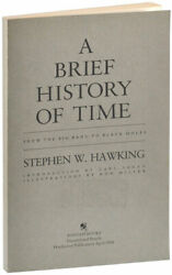 Stephen Hawking-a Brief History Of Time-1988-1st Us Ed-uncorrected Proof Copy-nf