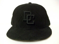 Washington Nationals Dc Authentic New Era 59fifty Blk Fitted Cap Hat Sz-7 1/2