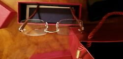 Cartier optical glasses BRAND NEW AUTHENTIC 18K WHITE GOLD