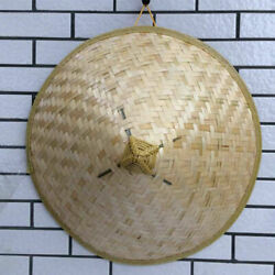 NEW Chinese Oriental Vietnamese Coolie Straw Bamboo Sun Farmer Fishing Rice Hat
