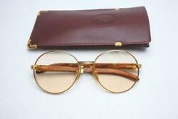Cartier 135 Wood Frame 1990 Limited Edition Glasses size