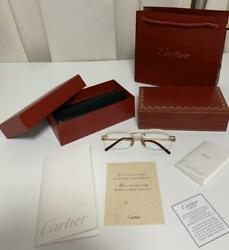 Cartier Gold 750 Glasses Eyeglasses size