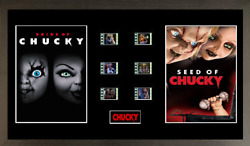 Bride Of Chucky Seed Of Chucky 6 Cell Film Cell Style Display 16 X 8 Framed