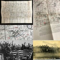Rare Wwi Aef 1917 France Metz Ordinance Artillery Marker Trench Map Relic