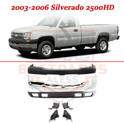 Front Bumper Kit W/ Cover Valance Brackets For 2003-2006 Chevy Silverado 2500 Hd