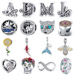 Silver Charms European 925 Sterling Pendant Sterling Beads fit Bracelet Necklace