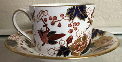 Coalport Bone China Cup And Saucer Set Vintage Floral Birds Insects