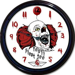 Pennywise It Stephen King Wall Clock Dancing Clown Horror Film Youand039ll Float Too