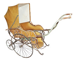 Antique Baby Carriage Stroller From Paris French 1870