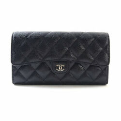 CHANEL Two-fold purse A80758 purse caviarStainless Steel Women