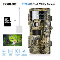 CT006 Trail Game Scouting 20MP 940nm Night Vision No Spy Hidden +8GB+SD Reader