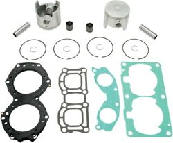 Wsm Complete Oversized Top End Rebuild Kit W/ Pistons Rings Gaskets 010-826-12