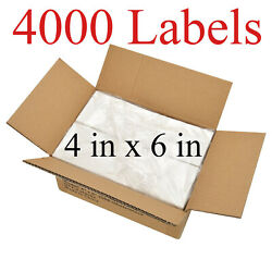 4000 - 4x6 Fanfold Direct Thermal Shipping Labels For Zebra And Rollo Printers Usa