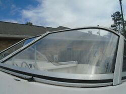 Proline 192 Boat Port Side Front Curved Windshield, Only This Piece
