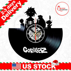 Gorillaz Pop Music LP Vinyl Record Wall Clock Art Decor Merch CD Christmas Gifts