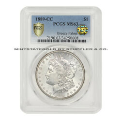 SCARCE 1889-CC $1 Silver Morgan PCGS MS63 PQ Approved Carson City Dollar coin