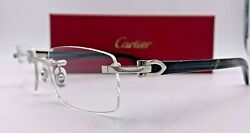 Cartier Black Buffalo Horn C Decor CT0490 002 53-18-140 100% Authentic Brand New