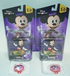 LOT OF 2 DISNEY INFINITY Power Disc King Mickey Kingdom Hearts Costume D23 Expo