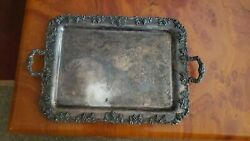 Authentic Antique Tray Apollo Bernard Rices Sons Silver Plated Ornate