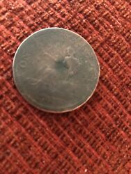 1812 Very Rare Double Dated Tiffen 1812 Canada Thomas Halliday One Penny Token