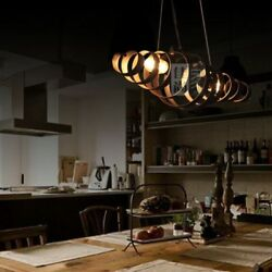 Industrial Country Lamp Retro Wrought Iron Spiral Chandelier Ceiling Lighting