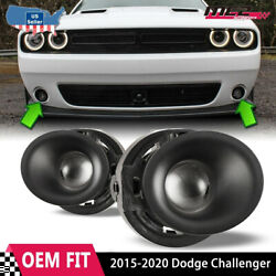 Fits 15-19 Dodge Challenger Clear Lens Pair Fog Light Lamps+wiring+switch Kit