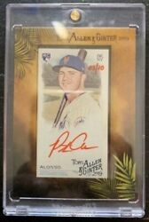 2019 Topps Allen And Ginter Pete Alonso Mini Framed Red Ink Auto Rc 3/10