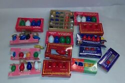 Mixed Lot Of Assorted Christmas Lights Glass Bulbs Holiday Decoration