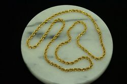 17.5 14k Yellow Gold Spiral Rope Chain Necklace 2.8mm 12.5g X14-2172