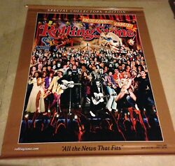 Rolling Stone Magazine Official Vinyl Display Banner 71x 60 1000th Issue Rare
