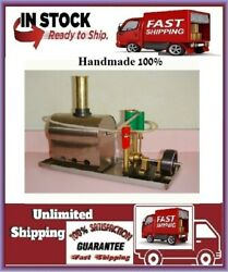 Small Steam Engine Model Miniature Birthday Gift Can Be Customized 100 Handmade