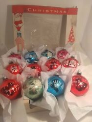 Antique Vintage Mercury Glass Christmas Ornaments Shiny Brite And American Made