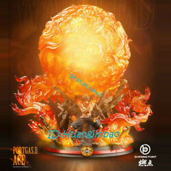 One Piece Portgas·d· Ace Fire Led Light Burning Point Studio Painted Model Resin