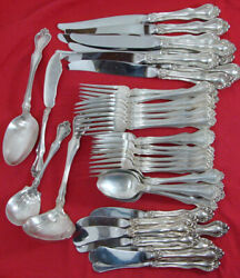 George And Martha By Westmorland Sterling Silver Flatware Set 8x5 Plus Servers
