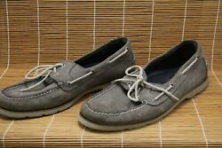 Sperry Top Sider Gray Leather 2-Eye Boat Shoes Men's Size 13 M - 0770719 - N1