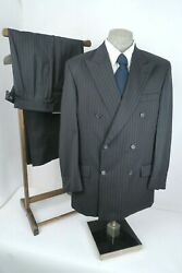 Joseph And Feiss Charcoal Pinstripe Fine Wool Mens Suit 42r 42 R 36x31pristine